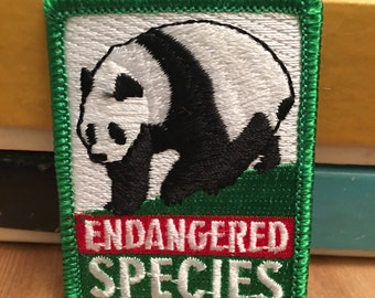 Endangered Species Patch (1)  - fonz zoo panda conservation preservation