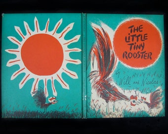 """Vintage 1960 Weekly Reader Children's Book Club Book- """"The Little Tiny Rooster"""" by Will and Nicolas"""