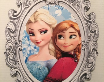 23-inch Framed Elsa and Anna Wall Art