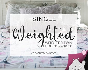 Single Size Weighted Blanket - You Pick Pattern & Weight - 40x70""