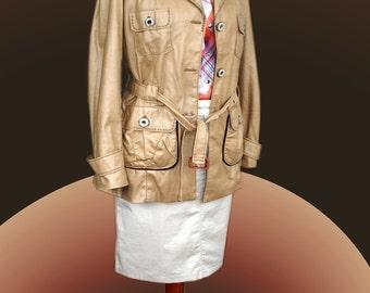 Ladies trench coat beige, San Francisco. Gr. 40