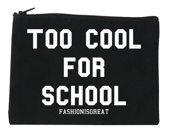 Too Cool For School Makeup Bag by Fashionisgreat - 3 Sizes Available S/M/L Black