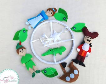 Peter Pan baby mobile / baby nursery mobile / crib mobile