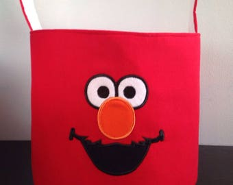 Sesame street Elmo Inspired Bucket Basket