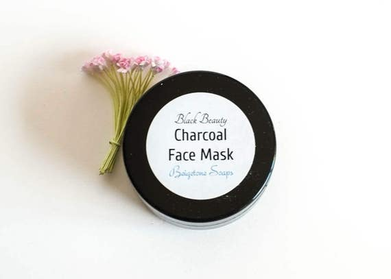 BLACK BEAUTY Charcoal Facial Mask | 2 oz Jar | EXCELLENT in Treating Acne, Psoriasis, Oily Skin