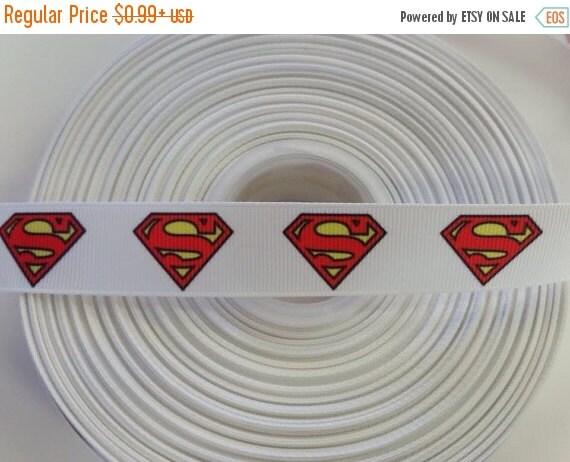 """SUPER SALE SUPERMAN 7/8"""" 22mm Grosgrain Hair Bow Craft Ribbon 781540"""