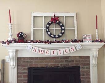Summer Banner • Summer Decoration• America Banner • Patriotic Banner • 4th of July Banner • July 4th Decor • Americana