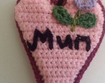 Mother's day lavender hanging heart, lavender heart decoration