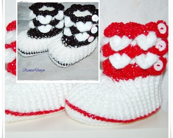 toddler Booties crocodile stitch baby booties baby fotografie baby shoes black baby shoes red crochet booties