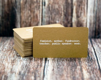Business Cards | Rounded Corners | Custom Personalized Business Cards | Mommy Calling Cards | Social Media Cards