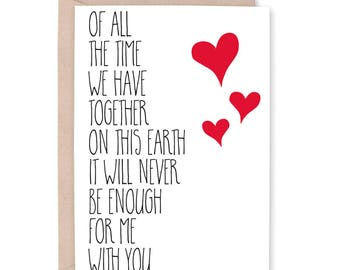 wife valentines day card husband valentine card finacee valentine card love you card - Husband Valentines Day