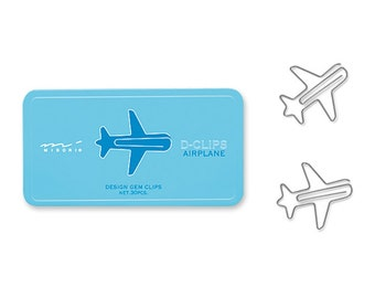 Midori D-Clips Airplane Paper Clips