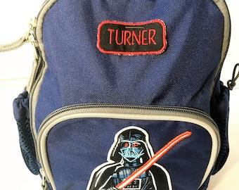 Toddler backpack, Darth vader backpack, preschool backpack, backpack, personalized, toddler bag, monogrammed backpack, back to school