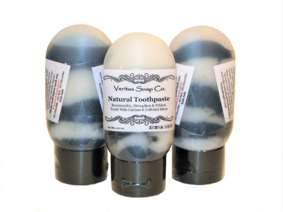 ZEBRA Mint TOOTHPASTE - Remineralize with Silver, Calcium and Activated Charcoal /Vegan / No Fluoride / No sls / Kids / Face Scrub