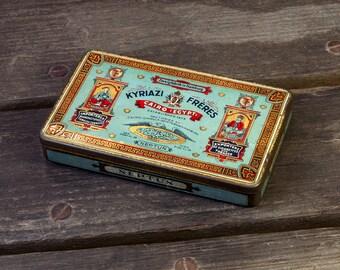Neptun Kyriazi Freres Egyptian Tobacco Tin