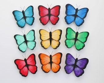 Wall Butterflies;  Rainbow wall decor; Girls Room Decor; Dorm Wall Decor; Butterfly wall art; Wedding Butterflies; Nursery Decor; 3d art
