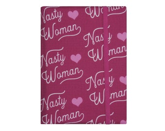 Kindle Paperwhite Cover, Kindle Paperwhite Case, Amazon Kindle Fire HD 6 7 8 Case, Kindle Cover, Hardcover Pink Political Nasty Woman
