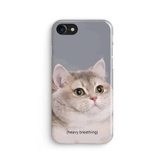 il_570xN.1171041058_ttwl heavy breathing cat meme iphone x case iphone 8 case
