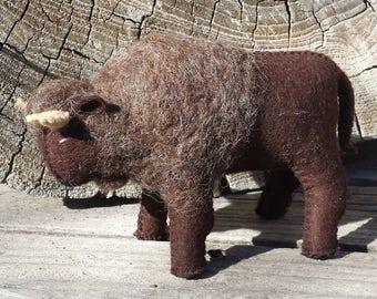 Buffalo, Felt Buffalo, Felt Animals, Felt Bison