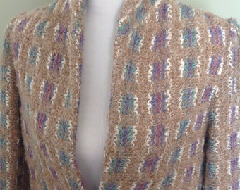 Gorgeous Vintage Bouche Jacket.....loose pile.....pretty subtle colors.....slightly puffy sleeves......Donnkenny
