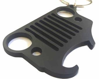 Jeep Keychain Bottle Opener Black