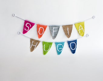 Your name in personalised banner flags