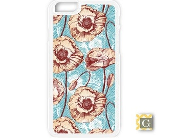 Galaxy S8 Case, S8 Plus Case, Galaxy S7 Case, Galaxy S7 Edge Case, Galaxy Note 5 Case, Galaxy S6 Case - Retro Poppies