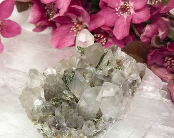 Quartz with Epidote in Matrix - A Stone for Attracting What You Want