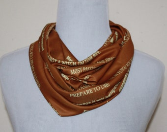 Only Five Dollars Princess Bride, Inconceivable Infinity Scarf for Gals in Brown, Beige