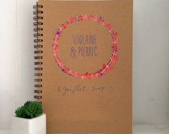 Personalized Wedding guestbook - A5 or A4