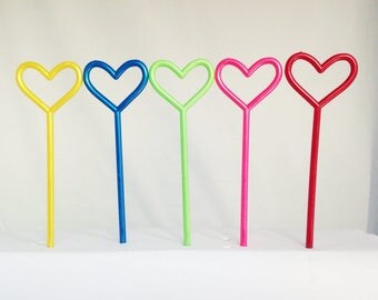 "12 Rainbow Heart 5"" Picks Toppers Party Favors Cupcake Cake Decorations"