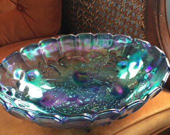 Vintage, Imperial Glass, Carnival, Iridescent Bowl.