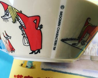 Kawaii Arabia Moomin ceramic bowl from Findland (Japan) for your collection