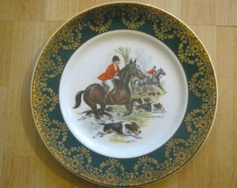 W H Grindley & CO (Broadhurst Bros)Vintage Hunting Scene Display/Cabinet Plate