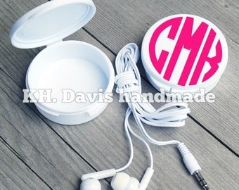 Monogrammed Earbud Case (Earbuds included!)