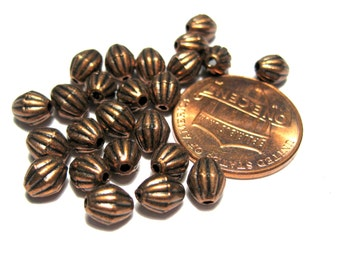 50pcs Antique Copper  Bicone Spacer Beads 5.5mm x 4mm