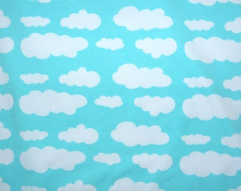 Fabric - jersey fabric - Mint cloud print knit