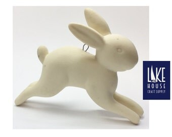 Ornament, Porcelain Bunny Rabbit. Bunny Rabbit Ornament Porcelain CLEARANCE SALE