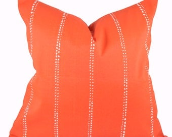 Patio Decor - Premier Prints Outdoor Carlo Orange Pillow Cover- Outdoor Pillow Cover - Made to Order in Over 20 Sizes - Zipper Closure