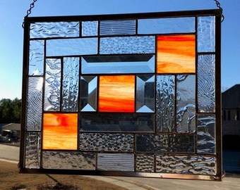 Touch of Sunset Stained Glass Panel