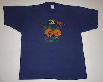 Squeeze Me! Florida T-Shirt Vintage 1980s L