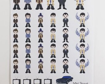 Mini Sticker Sheet  - Supernatural