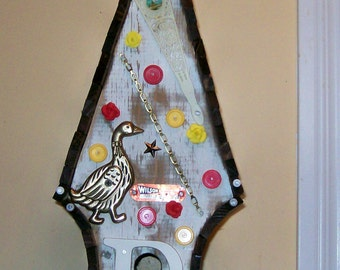 Unique One-Of-A-Kind Folk Art Birdhouse