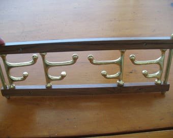 Brass and Wood Hanger