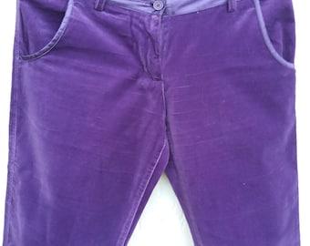 1980s Vintage Purple Velvet Disco Pants