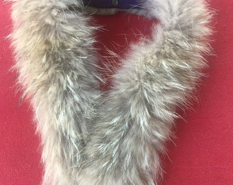 Vintage Tan or light beige Fox Fur Collar