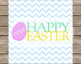Happy Easter svg Easter Eggs svg Egg Patterned Chevron Easter svg Easter Egg svg files cut file dxf silhouette cameo cricut cutting files
