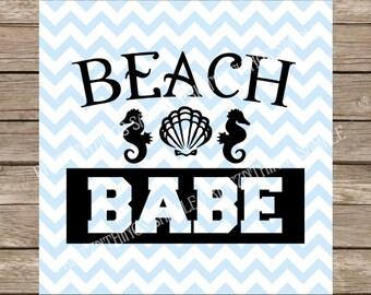 Beach Babe svg, Beach svg, Beach Babe, Beach, Tshirt svg, Ocean svg, Ocean, Summer svg, Summer, Workout Tank, Workout svg, Fitness svg