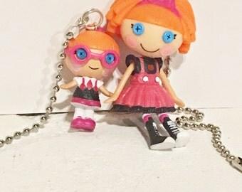 Lalaloopsy Pulls, Sisters Specs Reads-A-Lot and Bea Spells-A-Lot Figure fan pulls