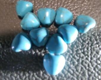 10 Pcs. 10mm Magnasite Heart Beads (2040084)